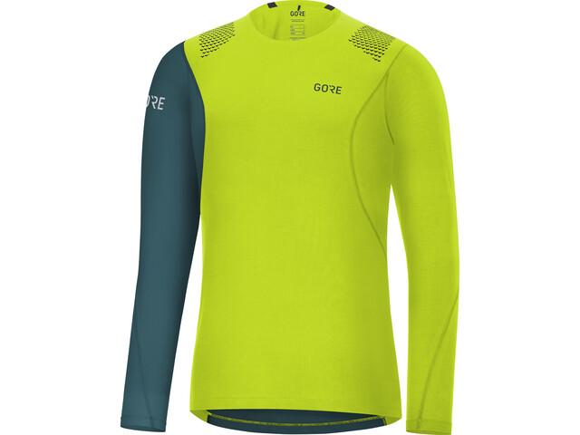 GORE WEAR R7 Longsleeve Shirt Heren, citrus green/dark nordic blue